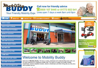Web Design and e-commerce Development Mobility Buddy