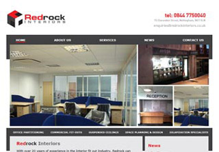 image of Red Rock Interiors Website